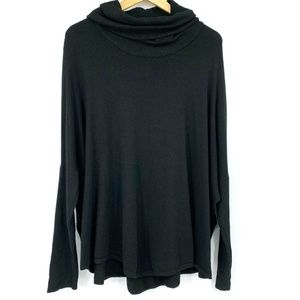 Cyrus Cowl Turtleneck Knit Sweater Dolman Sleeves
